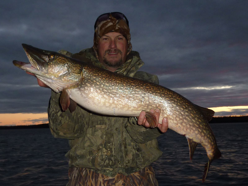 Northern Pike Fishing in Fall