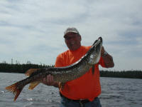 "June Northern Pike Fishing | Chuck - 40"" Northern Pike"